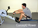 The Concept2 Rower by itself