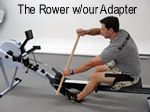 The Concept2 Rower with our paddle adapter attached