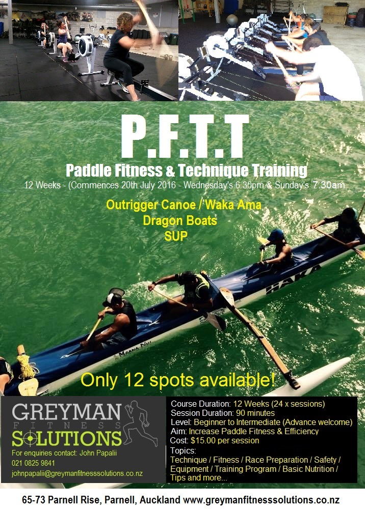 Paddle Fitness Classes at Greyman Fitness Solutions